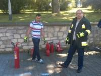 Szkolenie ze strażakiem