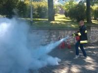 Szkolenie z użyciem gaśnicy